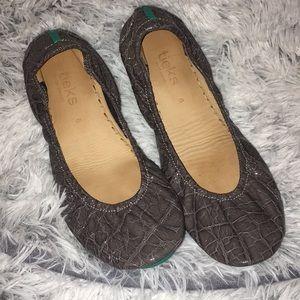 Slate grey croc Tieks sz 8